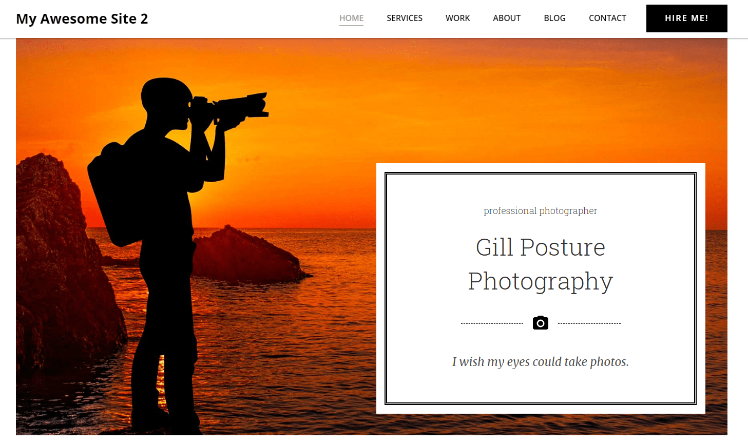 photographer website built with ColibriWP