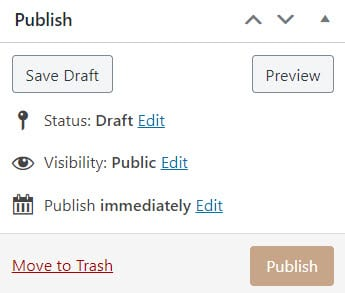 save or schedule a blog post in WordPress