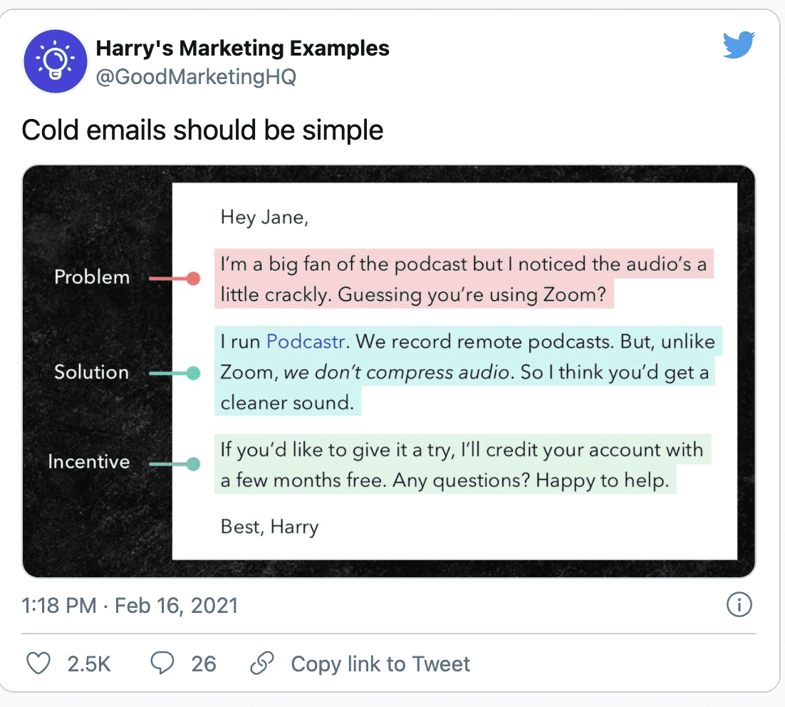 Email messaging examples